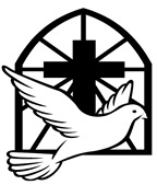 cross with dove