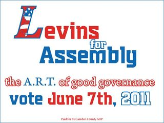 Levins for Assembly CNB ad
