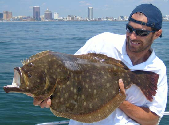 Jersey coast anglers association annual fluke tournament for Fishing lakes in nj