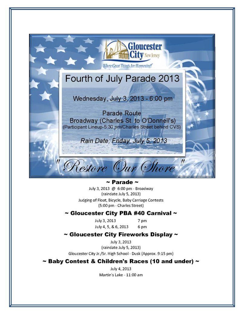 Advertisement_Gloucester City 4th of July Celebration_2013