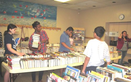BE - Book sale set up - 08-11-11