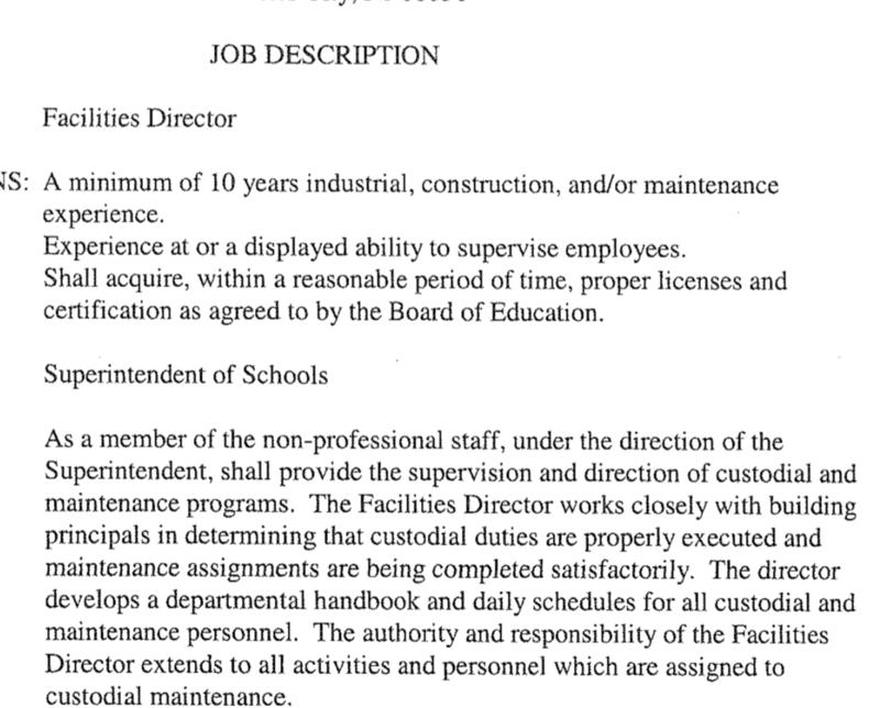 Job qualifications FD