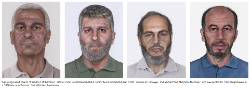 FBI's Most Wanted Terrorists: New Images Released in 1986