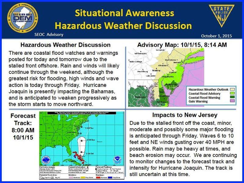 nj office of emergency management releases information on hazardous