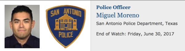 OFFICER DOWN: Police Officer Miguel Moreno, San Antonio