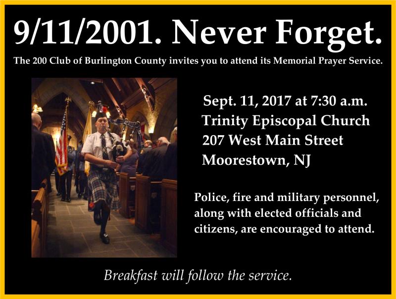 200 Club Memorial Service 2017