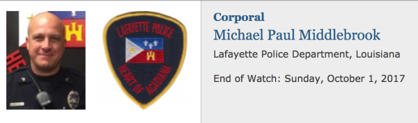 Officer Down: Corporal Michael Middlebrook, Lafayette Police