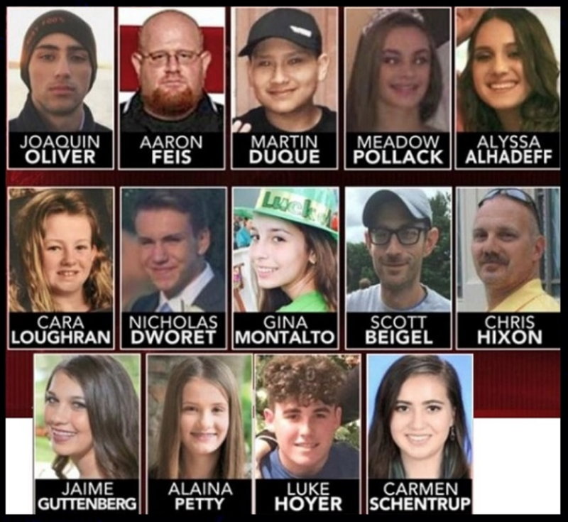 School Shooting Florida 2018: FLORIDA SCHOOL SHOOTING VICTIMS IDENTIFIED BY AUTHORITIES