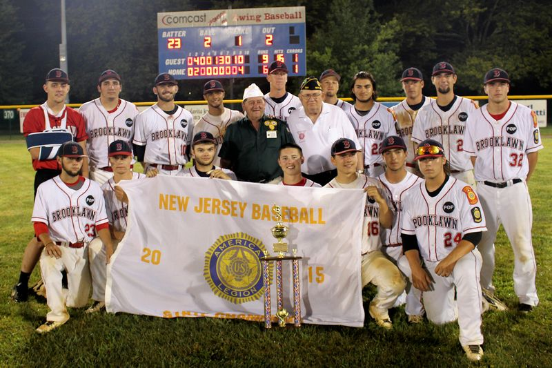 Mike Basbli, Frank Calandrillo with Brooklawn Championship Team