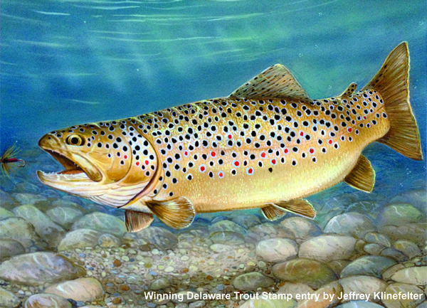 Sporting Art Trout By Stream Fly Rod Oil Painting