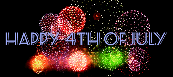 Happy 4th Of July Amazing Colorful Fireworks Animated