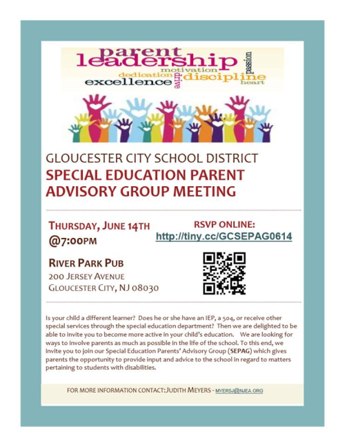 Gloucester City SEPAG meeting June 14 7pm