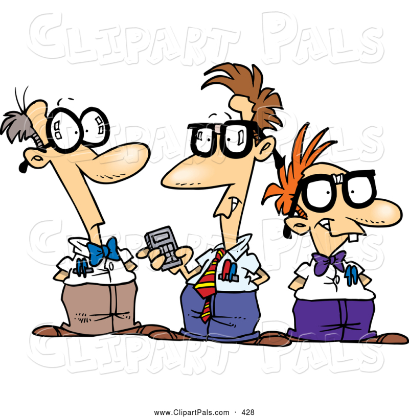Nerd-clipart-pal-clipart-of-a-friendly-cartoon-group-of-nerds-talking-by-ron-leishman-428