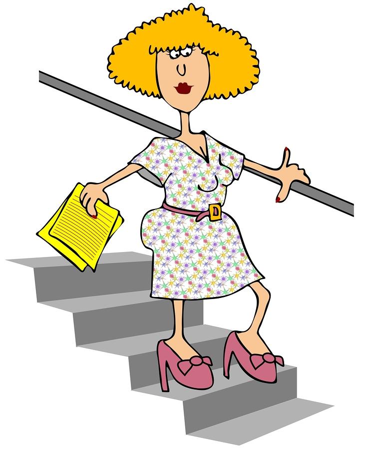 Woman-Walking-Down-Stairs-8073774