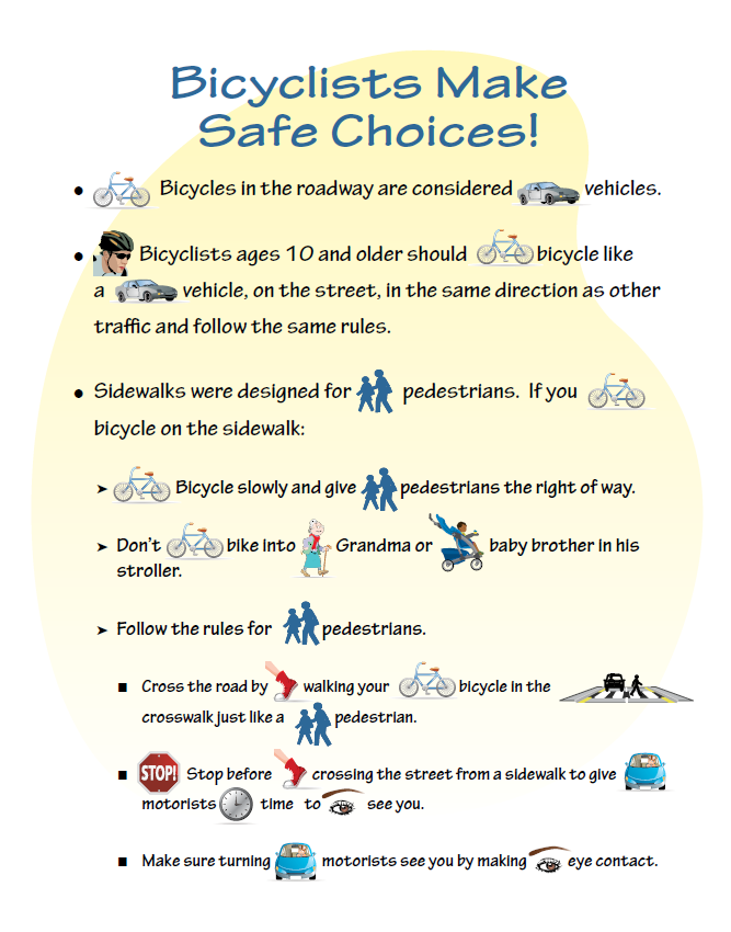Bicycle safety pic