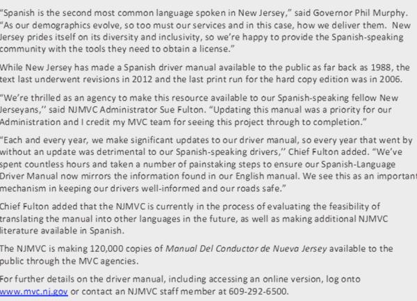Drivermanual the new jersey driver manual www. Njmvc. Gov driver.
