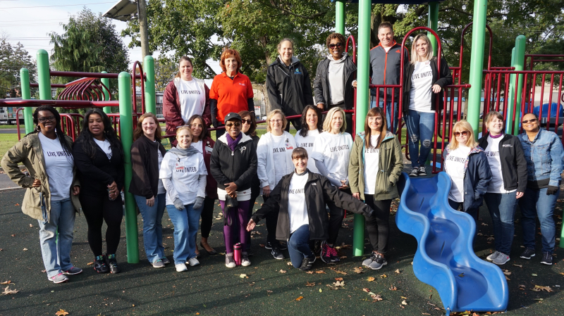 Cooper employees volunteer time to creat Born Learning Trail