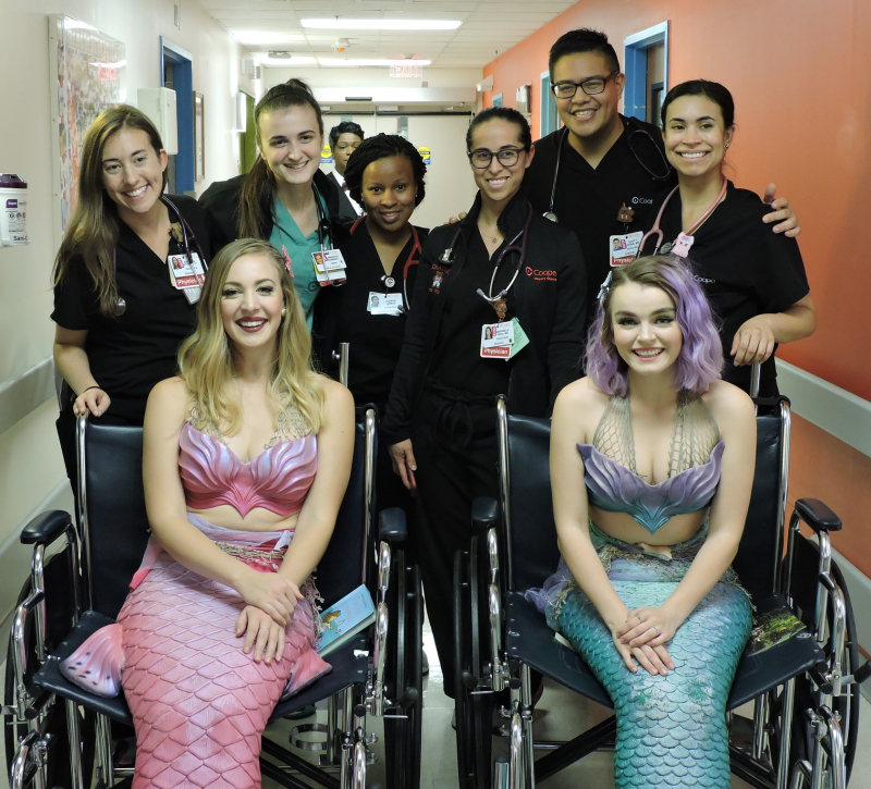 Mermaids with medical students and residents
