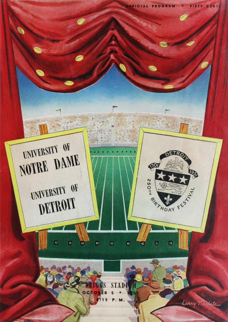 UD-Football-1951-NotreDame-Briggs-Stadium