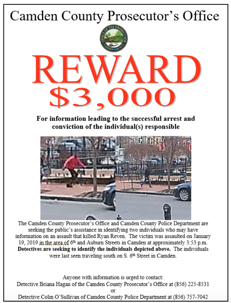 Reward Offered for Info Leading to the Arrest of Person(s