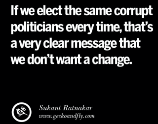 If we elect the same corrupt