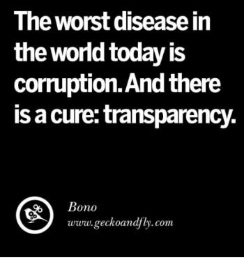 The worst disease is corruption