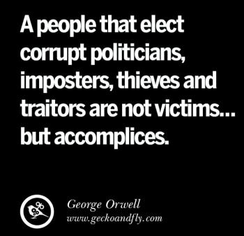 Corrupt politicians  imposters