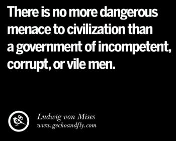 A gov. of incompetent corrupt vile men
