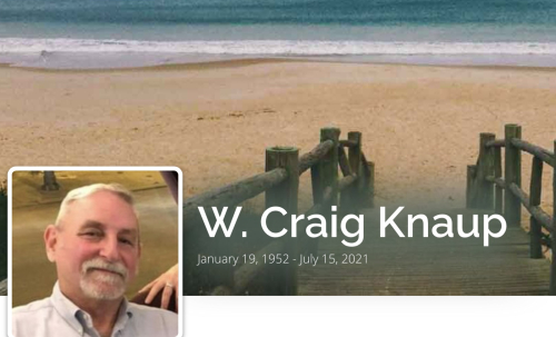 Obituary  W. Craig Knaup of Sea Isle City; Formerly of Collingswood  New Jersey  Foster-Warne Funeral Home