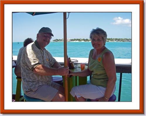 Janet and Bob Bevan enjoying the Florida Keys