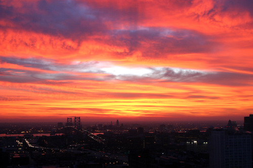 Sunrises over Philadelphia